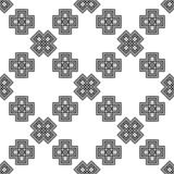 Black and White Seamless Ethnic Pattern. Vintage, Grunge, Abstract Tribal Background for Textile Design, Wallpaper, Surface Textures, Wrapping Paper Royalty Free Stock Image