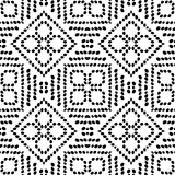 Black and White Seamless Ethnic Pattern. Tribal. Vintage, Grunge, Abstract Tribal Background for Surface Design, Textile, Wallpaper, Surface Textures, Wrapping Royalty Free Stock Photography