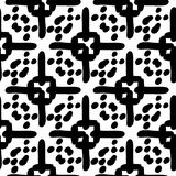Black and White Seamless Ethnic Pattern. Tribal. Vintage, Grunge, Abstract Tribal Background for Surface Design, Textile, Wallpaper, Surface Textures, Wrapping Stock Image