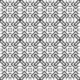 Black and White Seamless Ethnic Pattern. Tribal. Vintage, Grunge, Abstract Tribal Background for Surface Design, Textile, Wallpaper, Surface Textures, Wrapping Royalty Free Stock Photo