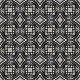 Black and White Seamless Ethnic Pattern Stock Photography