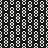 Black and White Seamless Ethnic Pattern Stock Photo