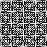 Black and White Seamless Ethnic Pattern. Vintage, Grunge, Abstract Tribal Background for Textile Design, Wallpaper, Surface Textures, Wrapping Paper Royalty Free Stock Images