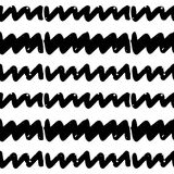 Black and White Seamless Ethnic Pattern. Vintage, Grunge, Abstract Tribal Background for Textile Design, Wallpaper, Surface Textures, Wrapping Paper Stock Images