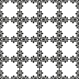 Black and White Seamless Ethnic Pattern. Vintage, Grunge, Abstract Tribal Background for Textile Design, Wallpaper, Surface Textures, Wrapping Paper Royalty Free Stock Photography