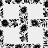 Black and white seamless floral pattern Royalty Free Stock Image