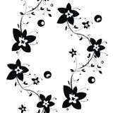 Black and white seamless floral texture Royalty Free Stock Image