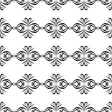 Black and white SEAMLESS GEOMETRIC PATTER, BACKGROUND DESIGN. Modern stylish texture. Repeating and editable.Can be used for print Royalty Free Stock Photo