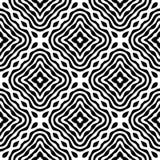 Black and white SEAMLESS GEOMETRIC pattern royalty free illustration