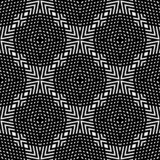 Black and white SEAMLESS GEOMETRIC pattern. Abstract repeated pattern ,geometric ,back ground.black and white  ,print and laser cut roof or bed sheet ,tiles Vector Illustration