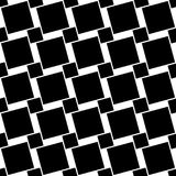 Black and white seamless geometric square pattern - vector background design from angular squares. Black and white seamless geometric square pattern - vector Stock Photography