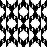 Black and white seamless geometrical pattern stock photo