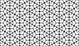 Black and white seamless geometrical pattern Stock Photos