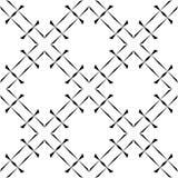 Black and white seamless geometrical pattern royalty free stock photo