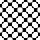 Black and white seamless geometrical pattern stock image