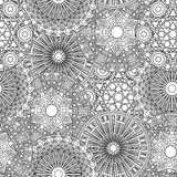 Black and white seamless lacy floral pattern Royalty Free Stock Photo