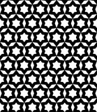 Black & white seamless ornament texture. Vector monochrome seamless pattern, simple black & white ornament texture. Abstract endless background in oriental style Vector Illustration