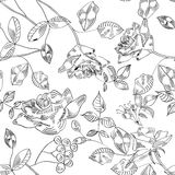 Black and white seamless pattern Stock Image