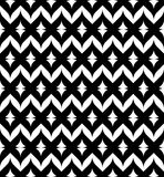 Black and white seamless pattern, abstract background. Royalty Free Stock Photo