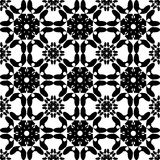 Black and white seamless pattern, abstract background. Royalty Free Stock Images