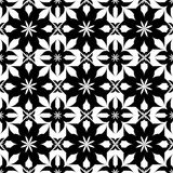 Black and white seamless pattern, abstract background. Royalty Free Stock Photography