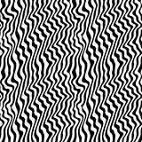 Black & white seamless pattern with abstract curved lines Royalty Free Stock Image