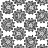 Black and white seamless pattern. Abstract geometric seamless pattern. Black and white vector illustration Royalty Free Stock Photo