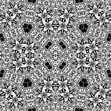 Black and white seamless pattern. Royalty Free Stock Photo