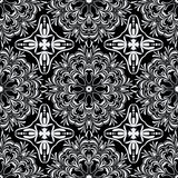 Black and white seamless pattern. Stock Image
