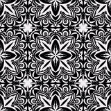 Black and white seamless pattern. Stock Images