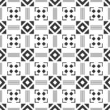 Black and white seamless pattern. Aztec abstract geometric background. Ethnic hipster style. stock image