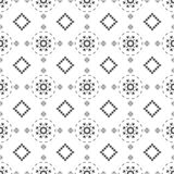 Black and white seamless pattern. Aztec abstract geometric background. Ethnic hipster style. stock images
