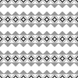 Black and white seamless pattern. Aztec abstract geometric background. Ethnic hipster style. royalty free stock image