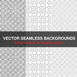 Black white seamless pattern background. Fashion fabric for elegant design. Abstract geometric frames. Stylish decorative label fo Royalty Free Stock Photography