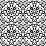 Black and white seamless pattern. Black and white background,  vintage lattice ornament, abstract seamless pattern Royalty Free Stock Photos