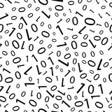 Black and white seamless pattern with binary code Stock Images