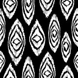 Black and white seamless pattern with boho shapes Royalty Free Stock Photos