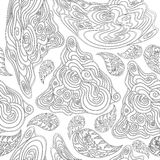Black-and-white seamless pattern for coloring books Stock Images