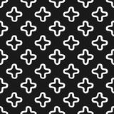 Black and white seamless pattern with cross motifs in hand drawn style. Black and white seamless pattern with outlined cross motifs in hand drawn style Stock Photos