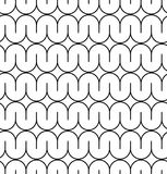 Black and white seamless pattern with curved line. Stock Images