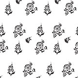 Black and white seamless pattern Stock Photos