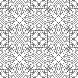 Black, white seamless pattern. Decorative ornament for coloring book, page. Royalty Free Stock Photo