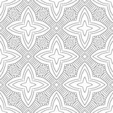 Black, white seamless pattern. Decorative ornament for coloring book, page. Stock Images