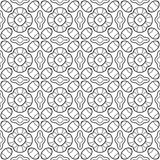 Black, white seamless pattern. Decorative ornament for coloring book, page. Stock Photography