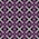 Black and White Seamless Pattern Design on a Dark Pink Backgroun Stock Image