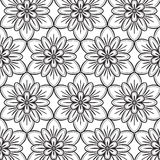 Black and white seamless pattern Stock Images