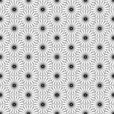 Black and white seamless pattern with flower style, abstract bac Royalty Free Stock Photo