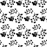 Black and white seamless pattern of flowers Royalty Free Stock Photos
