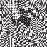 Black and white seamless pattern, geometric background with interweaving lines, Royalty Free Stock Photos