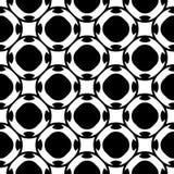 Black & white seamless pattern, geometric texture Royalty Free Stock Photos